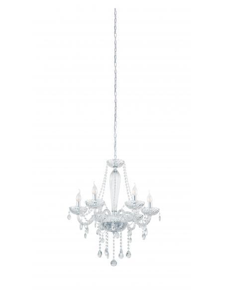 EGLO 39099 - BASILANO 1 Lámpara colgante de Cristal en Acero cromo y Vidrio