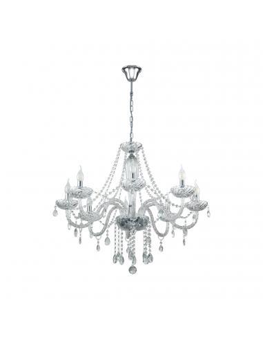 EGLO 39101 - BASILANO 1 Lámpara colgante de Cristal en Acero cromo y Vidrio