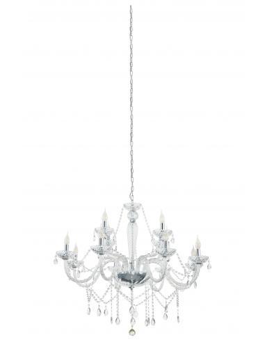 EGLO 39102 - BASILANO 1 Lámpara colgante de Cristal en Acero cromo y Vidrio