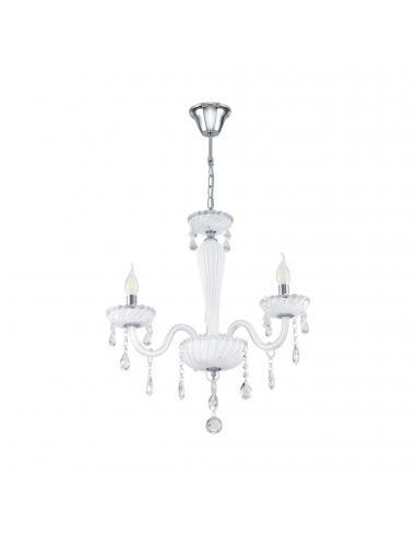 EGLO 39112 - CARPENTO Lámpara colgante de Cristal en Acero cromo y Vidrio