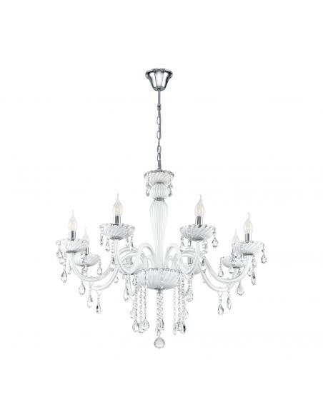 EGLO 39114 - CARPENTO Lámpara colgante de Cristal en Acero cromo y Vidrio