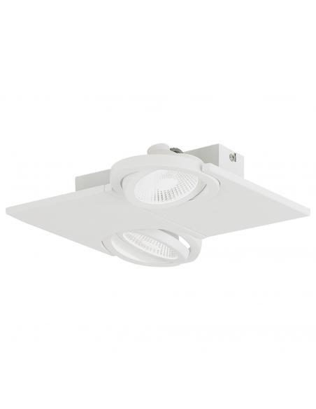 EGLO 39134 - BREA Lámpara de Salón en Acero, aluminio blanco y Vidrio satinado