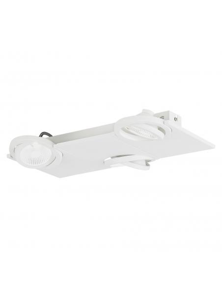 EGLO 39135 - BREA Lámpara de Salón en Acero, aluminio blanco y Vidrio satinado