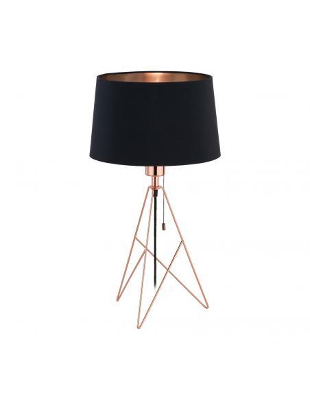 EGLO 39178 - CAMPORALE Lámpara de Tela en Acero cobre y Textil