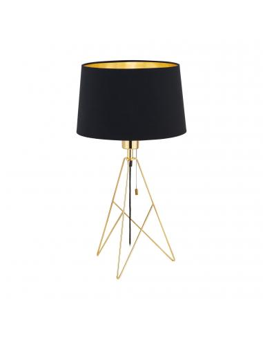 EGLO 39179 - CAMPORALE Lámpara de Tela en Acero latón y Textil