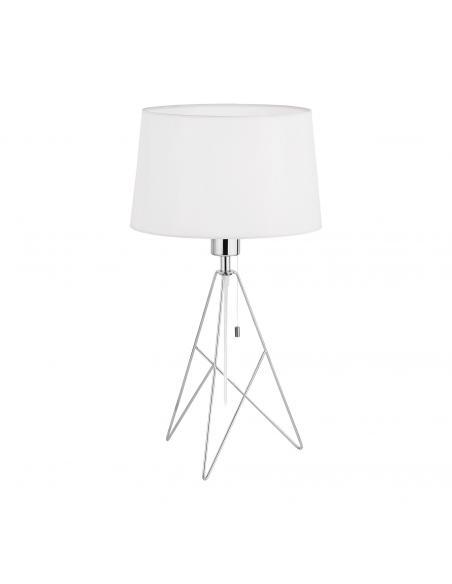 EGLO 39181 - CAMPORALE Lámpara de Tela en Acero cromo y Textil