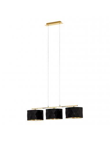EGLO 39225 - DOLORITA Lámpara de Salón en Acero latón y Textil