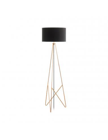 EGLO 39229 - CAMPORALE Lámpara de Salón en Acero cobre y Textil