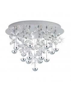 Lámpara de sobremesa acero/cristal tallado BERAMO 1