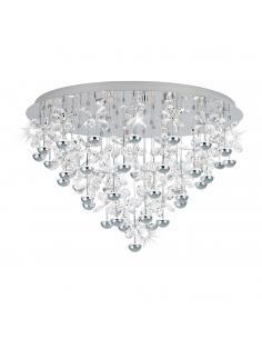 Lámpara de techo colgante acero/cristal OVIEDO