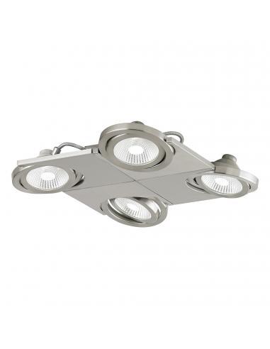 EGLO 39251 - BREA Lámpara de Salón en Acero, aluminio níquel-mate y Vidrio satinado