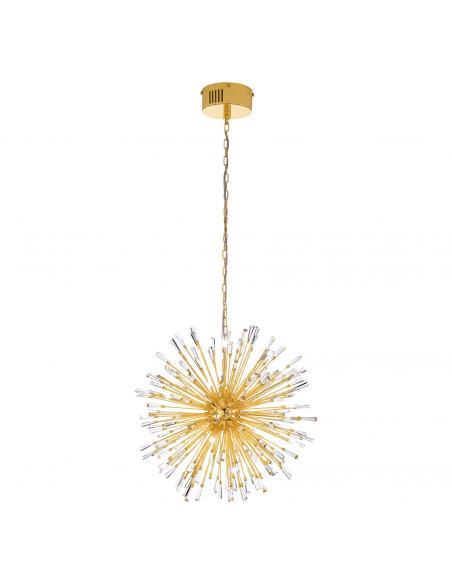 EGLO 39255 - VIVALDO 1 Lámpara colgante LED en Acero dorado y Cristal