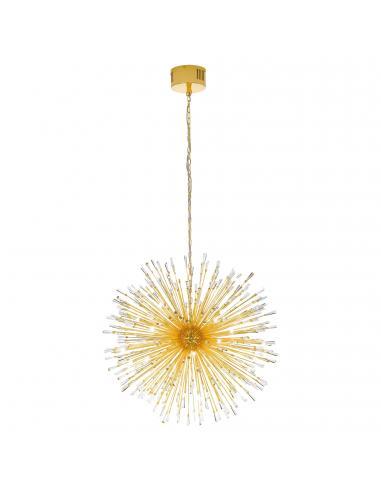 EGLO 39256 - VIVALDO 1 Lámpara colgante LED en Acero dorado y Cristal