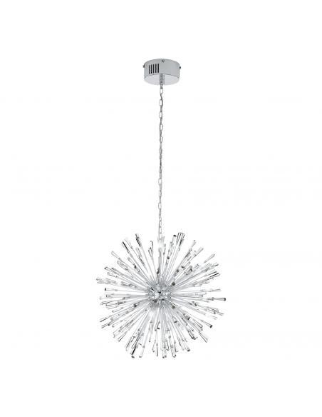 EGLO 39261 - VIVALDO 1 Lámpara colgante LED en Acero cromo y Cristal