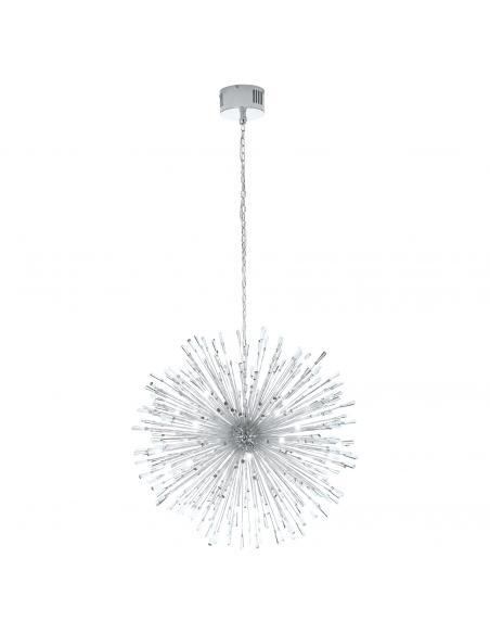 EGLO 39262 - VIVALDO 1 Lámpara colgante LED en Acero cromo y Cristal