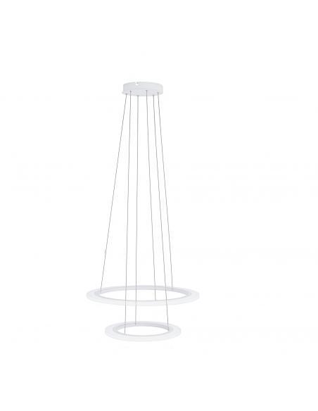 EGLO 39273 - PENAFORTE Lámpara colgante LED en Aluminio blanco y Acrílico