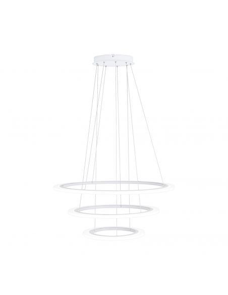 EGLO 39274 - PENAFORTE Lámpara colgante LED en Aluminio blanco y Acrílico
