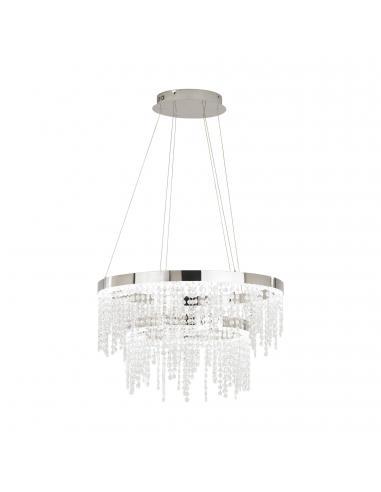 EGLO 39281 - ANTELAO Lámpara colgante LED en Acero cromo y Cristal