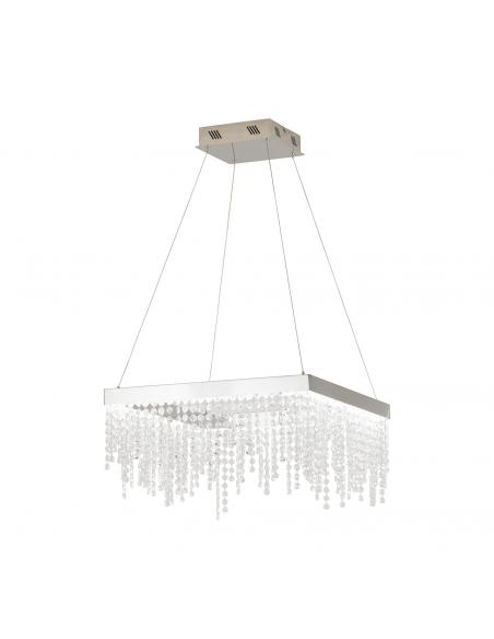 EGLO 39282 - ANTELAO Lámpara colgante LED en Acero cromo y Cristal