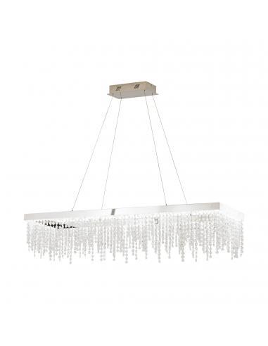EGLO 39283 - ANTELAO Lámpara colgante LED en Acero cromo y Cristal