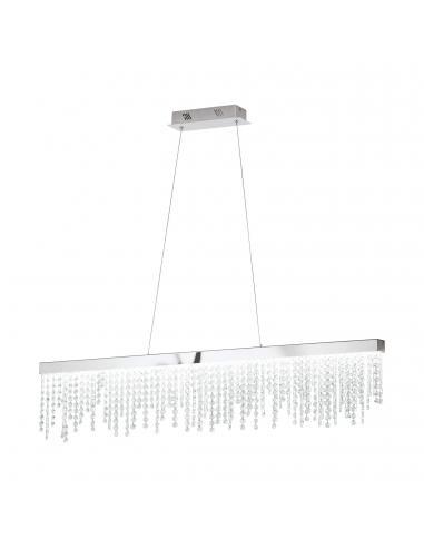 EGLO 39284 - ANTELAO Lámpara colgante LED en Acero cromo y Cristal