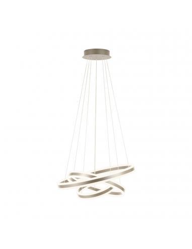 EGLO 39314 - TONARELLA Lámpara colgante LED en Acero champán y Acrílico