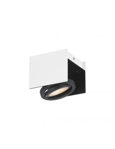 EGLO 39315 - VIDAGO Plafón LED en Aluminio, acero blanco, negro