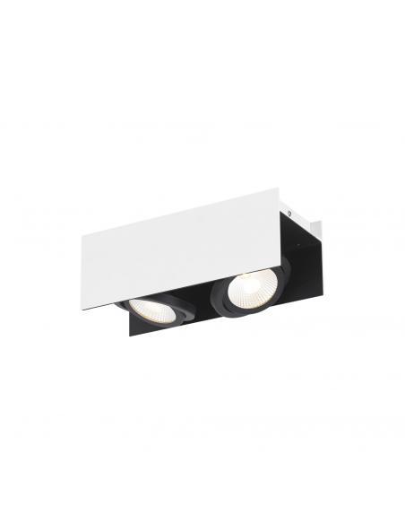 EGLO 39316 - VIDAGO Plafón LED en Aluminio, acero blanco, negro