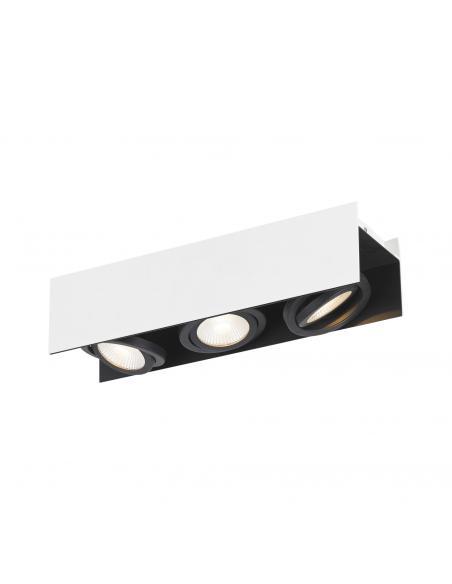 EGLO 39317 - VIDAGO Plafón LED en Aluminio, acero blanco, negro