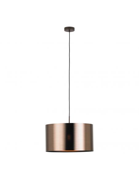EGLO 39356 - SAGANTO 1 Lámpara colgante de Cobre en Acero marrón y Acrílico