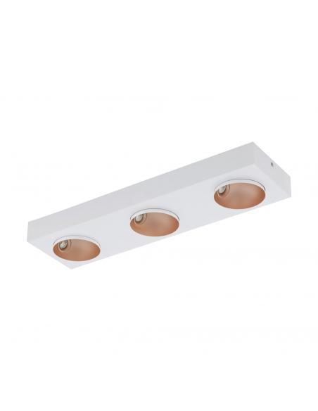 EGLO 39375 - RONZANO Foco LED en Acero, aluminio blanco, oro rosáceo