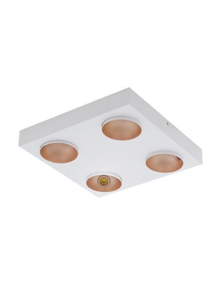 EGLO 39377 - RONZANO Foco LED en Acero, aluminio blanco, oro rosáceo