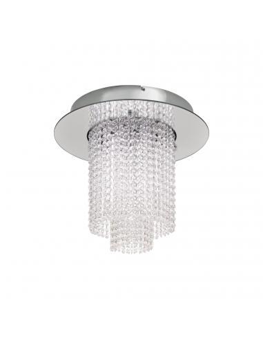 EGLO 39396 - VILALONES Plafón LED en Acero cromo y Cristal