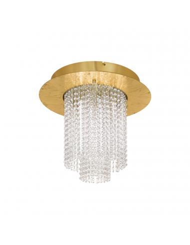 EGLO 39398 - VILALONES Plafón LED en Acero dorados y Cristal