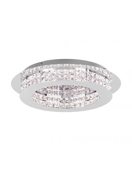 EGLO 39401 - PRINCIPE Plafón LED en Acero cromo y Cristal