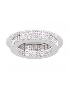 EGLO 39402 - PRINCIPE Plafón LED en Acero cromo y Cristal