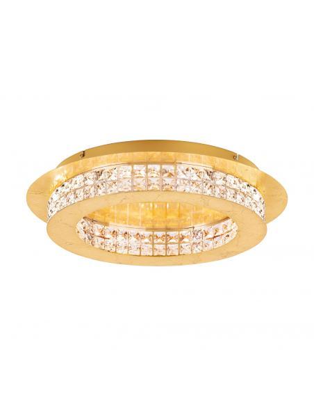 EGLO 39405 - PRINCIPE Plafón LED en Acero dorados y Cristal