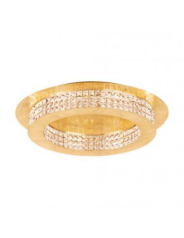 EGLO 39406 - PRINCIPE Plafón LED en Acero dorados y Cristal