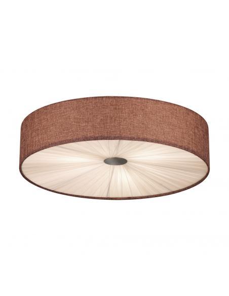 EGLO 39445 - FUNGINO Lámpara de Salón en Acero níquel-mate, blanco y Textil, lino