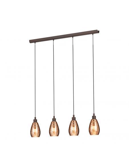EGLO 39507 - SIRACUSA Lámpara colgante de Cobre en Acero marrón