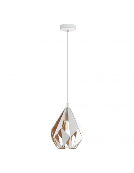 EGLO 43001 - CARLTON 1 Lámpara de Salón en Acero blanco, oro