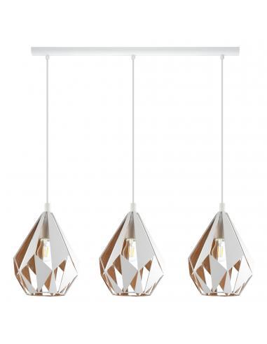EGLO 43002 - CARLTON 1 Lámpara de Salón en Acero blanco, oro
