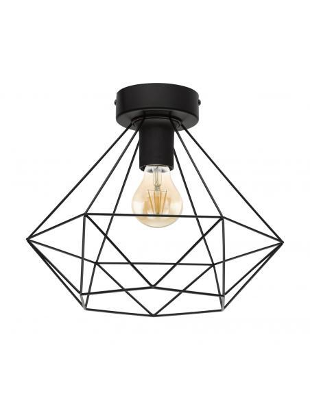 EGLO 43004 - TARBES Lámpara de Salón en Acero negro