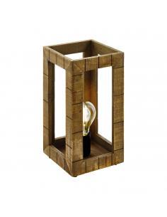 EGLO 43016 - TAKHIRA Lámpara de Salón en Acero, madera negro, marrón