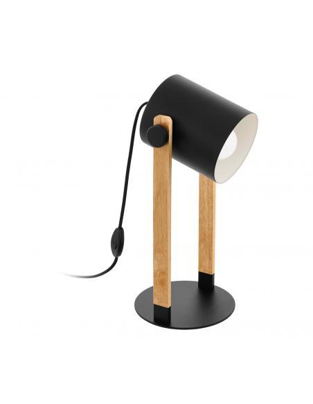 EGLO 43047 - HORNWOOD Lámpara de Salón en Acero S57 y Madera