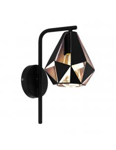 Lámpara de techo colgante con pantalla de fibra marrón oscuro Ø38,5 DONADO
