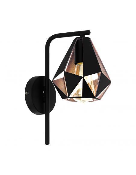 EGLO 43057 - CARLTON 4 Lámpara de Salón en Acero negro, colores de cobre-antiguo
