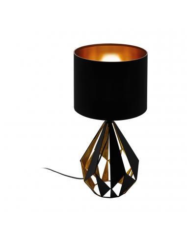 EGLO 43077 - CARLTON 5 Lámpara de Tela en Acero negro, cobre y Textil