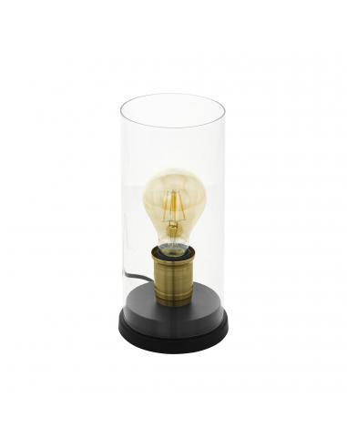 EGLO 43105 - SMYRTON Lámpara de Salón en Acero negro, bruñido y Vidrio