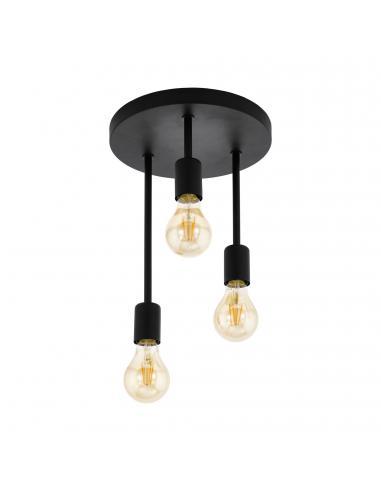 EGLO 43126 - WILMCOTE Lámpara de Salón en Acero negro